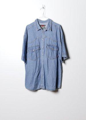 Sonstige Chemise hawaïenne bleu jean