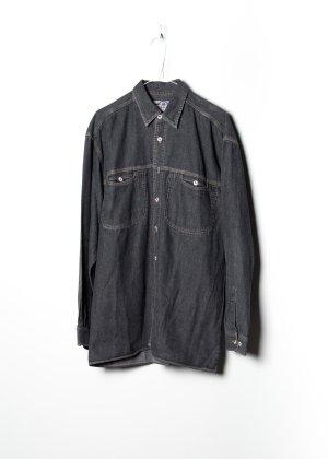 Vintage Unisex Jeanshemd in Grau