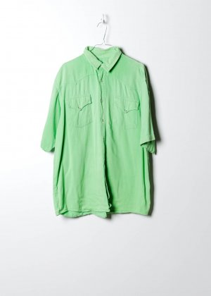 Sonstige Chemise hawaïenne vert jean
