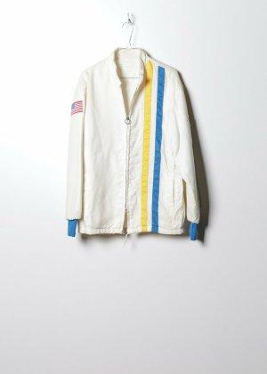 Vintage Unisex Outdoor Jacke in Weiß
