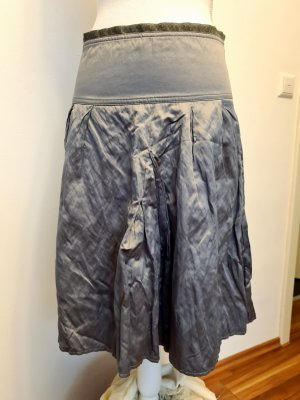 Vintage Vero Moda Metalic Hof knee Skirt Rock Midirock Gr. 36