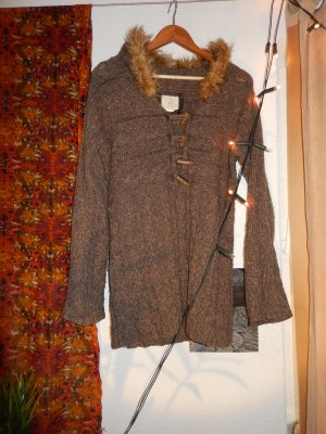 Vintage Warmer brauner Pullover Fur Wool