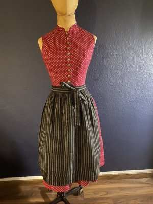 Vintage Love Dirndl carmine-black cotton