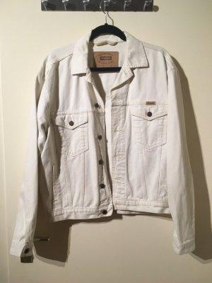 vintage weiße Wrangler Jeansjacke