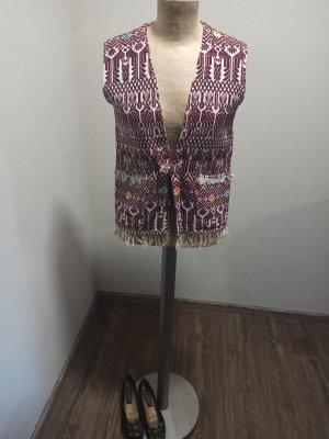 Vintage Fringed Vest multicolored