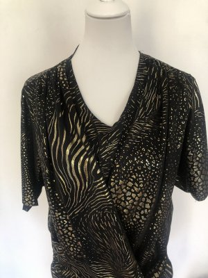 Vintage Maglietta aderente nero-oro