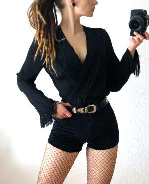 True Vintage Kopertowa bluzka czarny