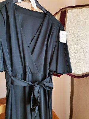 Vintage Vestido cruzado negro