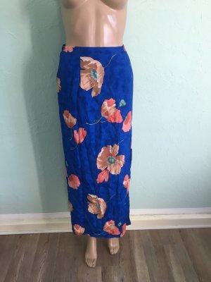 Wraparound Skirt blue-neon orange polyester