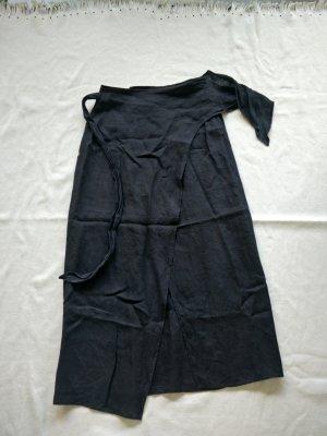 Sahza Wraparound Skirt black linen
