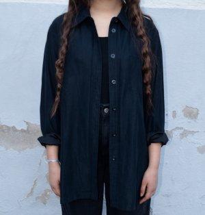 Vintage Skórzana koszula ciemnoniebieski
