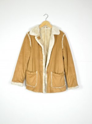 Vintage Winterjacke aus Wildlederimitat