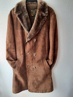 Canda Skórzana sukienka brązowy