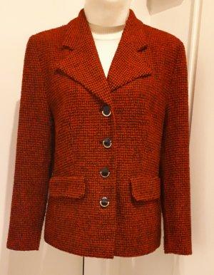 Blazer de lana negro-rojo Lana
