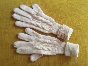 Vintage Guanto in maglia bianco
