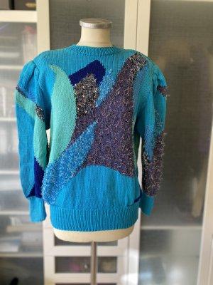 Vintage Woll Pullover 80er Jahre 100% Schur-wolle Gr. S