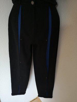 Woolen Trousers black-blue wool