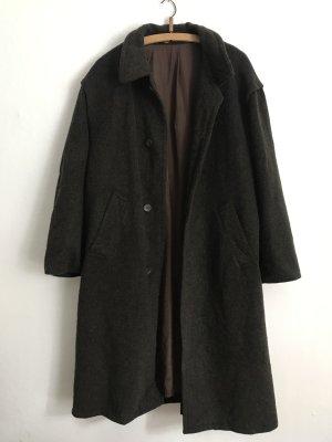 Vintage Abrigo de lana multicolor Lana