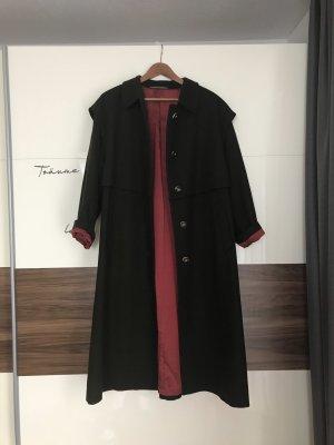 Vintage Oversized jas karmijn-donkergroen