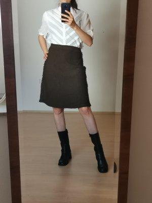 Vintage Spódnica midi brązowy-ciemnobrązowy