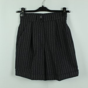 Real Vintage High-Waist-Shorts anthracite-light grey