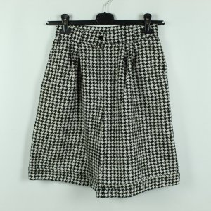 Real Vintage High-Waist-Shorts black-white