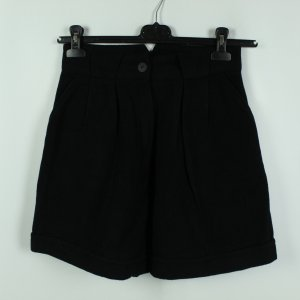 Real Vintage High-Waist-Shorts black wool
