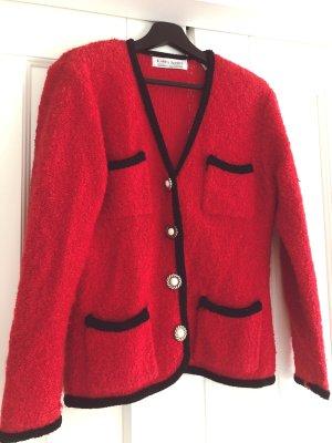 Vintage Wollstrickjacke in Rot von Karen Scott