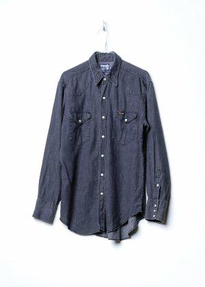 Wrangler Camicia a maniche lunghe nero Denim