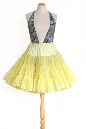 Vintage Tulle Skirt pale yellow