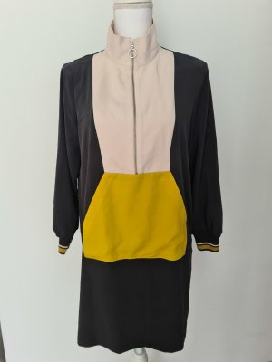 Vintage Zara langarm Kleid Sweatshirtkleid mit Kragen Gr. S