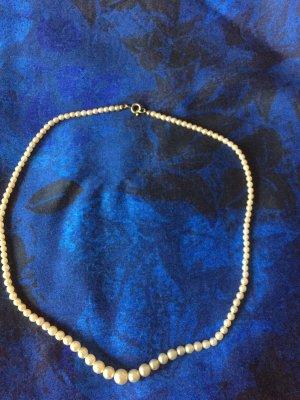 Vintage Collar de perlas crema