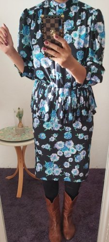 Vintage Tailleur bleu clair-bleu