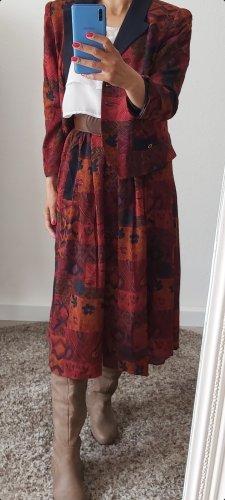 Vintage Ladies' Suit carmine-bordeaux