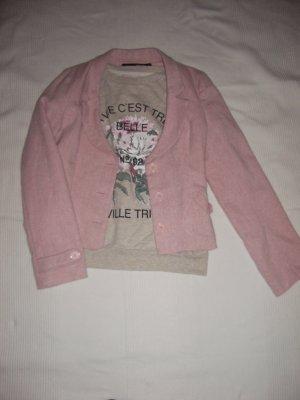 Vintageboucle Blazer tweed in rosa