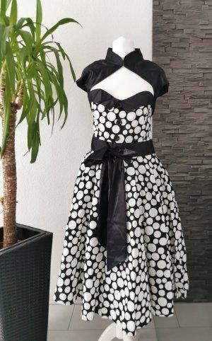 Vintagekleid mit Bolero Swingkleid Polka Dots Retro Vintage Kleid Punkte 50er