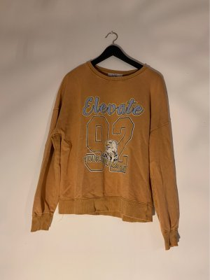C&A Clockhouse Sweter oversize ciemny pomarańcz-błękitny
