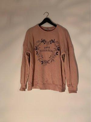 C&A Clockhouse Sweter oversize w kolorze różowego złota-ciemnoniebieski