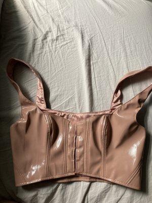 Vinyl bra corset