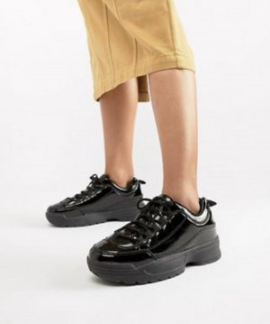 Vinyl chunky sneakers