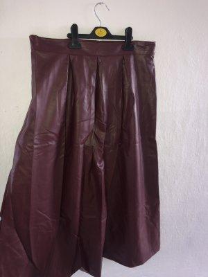 Jupe longue bordeau polyester