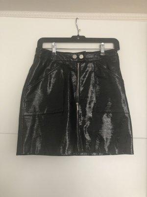 Falda estilo cargo negro-color plata
