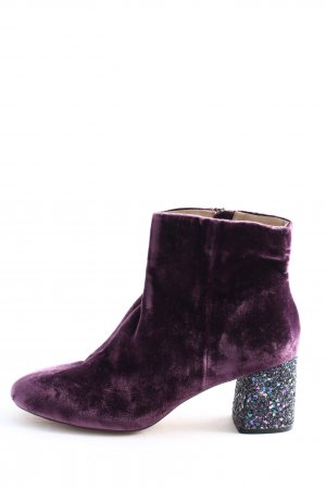 Violeta by Mango Ankle Boots lila Casual-Look