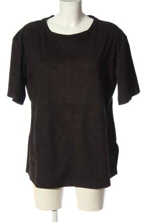 Violeta by Mango Koszulka z dzianiny czarny W stylu casual