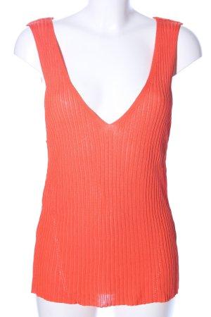 Violeta by Mango Haut tricotés orange clair style décontracté