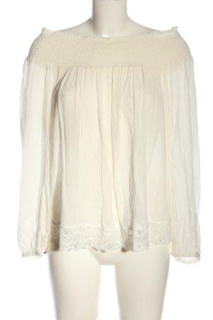 Violeta Langarm-Bluse wollweiß Elegant