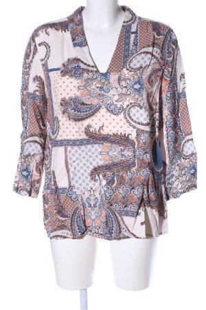 Violeta Long-Bluse abstraktes Muster Casual-Look