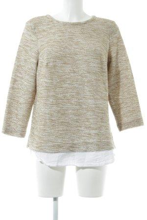 Violeta Strickpullover wollweiß-beige Streifenmuster Casual-Look