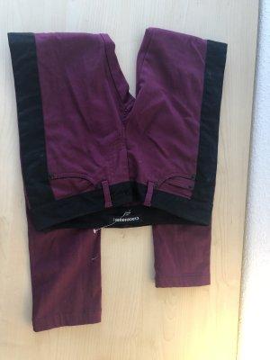 Clockhouse Pantalon cigarette noir-brun pourpre