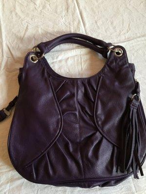 Violette, dunkellila Tasche von Yessica, Beuteltasche